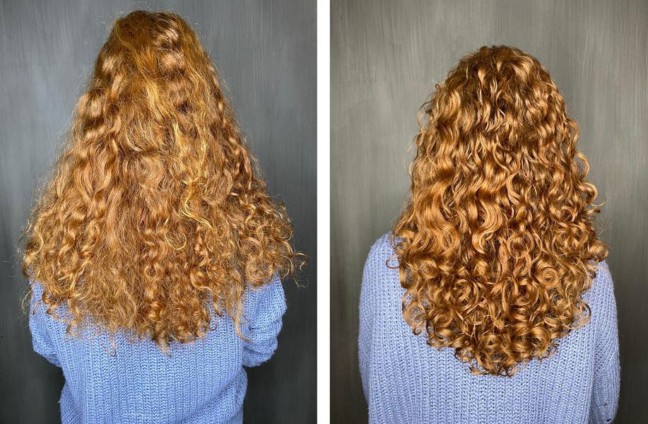 Krullen knippen before after Hairworx devacut